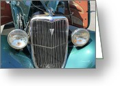 Ford V8 Greeting Cards - Vintage Ford V8 Greeting Card by Suzanne Gaff