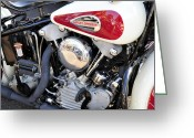 V Twin Greeting Cards - Vintage Harley V Twin Greeting Card by David Lee Thompson
