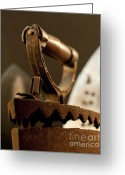 Pressing Greeting Cards - Vintage Iron Handle Greeting Card by Wilma  Birdwell