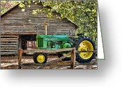 John Deere Greeting Cards - Vintage Greeting Card by Kenny Francis