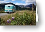 Road Trip Greeting Cards - Vintage Motorhomes Greeting Card by Jason Auch