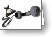 Hanging Greeting Cards - Vintage Phone  Greeting Card by Igor Kislev