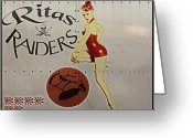 Ww2 Photographs Greeting Cards - Vintage Pinup Nose Art Ritas Raiders Greeting Card by Cinema Photography
