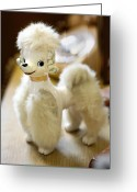 Faux Vintage Greeting Cards - Vintage Poodle Greeting Card by Marilyn Hunt