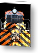 Tanker Train Greeting Cards - Vintage Railroad Locomotive Train In The Train House . 7D11626 Greeting Card by Wingsdomain Art and Photography