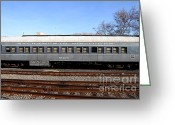 Tanker Train Greeting Cards - Vintage Railroad Train . 7D11622 Greeting Card by Wingsdomain Art and Photography