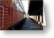 Tanker Train Greeting Cards - Vintage Railroad Train At The Station . 7D11602 Greeting Card by Wingsdomain Art and Photography