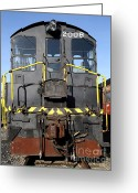 Tanker Train Greeting Cards - Vintage Railroad Trains . 7D11598 Greeting Card by Wingsdomain Art and Photography