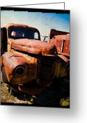 Antique Truck Greeting Cards - Vintage Truck in TTV Greeting Card by Sonja Quintero
