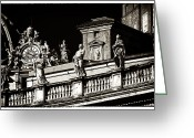 Sculptures For Sale Photo Greeting Cards - Vintage Vatican Greeting Card by John Rizzuto