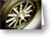 Pdx Art Greeting Cards - Vintage Wheel Greeting Card by Cathie Tyler
