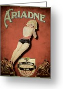 California Greeting Cards - Vintage Wine Ad II Greeting Card by Cinema Photography