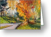 Autumn Colors Greeting Cards - Viola in a Nice Autumn Day  Greeting Card by Ylli Haruni
