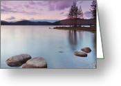Dam Greeting Cards - Violet dusk Greeting Card by Evgeni Dinev