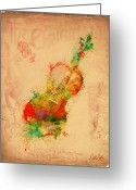 Bass Digital Art Greeting Cards - Violin Dreams Greeting Card by Nikki Marie Smith