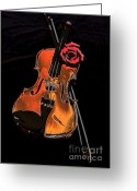 Violin Digital Art Greeting Cards - Violin Extreme Greeting Card by Marsha Heiken