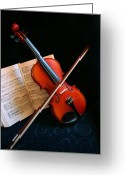 String Instrument Greeting Cards - Violin Greeting Card by Kristin Elmquist