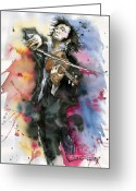 Player Greeting Cards - Violine player. Greeting Card by Yuriy  Shevchuk