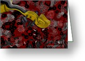 Violin Digital Art Greeting Cards - Violinelle - v02-12a Greeting Card by Variance Collections