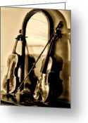 Violin Digital Art Greeting Cards - Violins Greeting Card by Bill Cannon