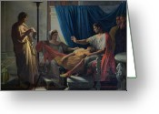 The Orator Greeting Cards - Virgil Reading the Aeneid Greeting Card by Jean Auguste Dominique Ingres