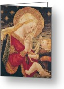 Jesus Painting Greeting Cards - Virgin and Child  Greeting Card by Neri di Bicci