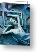 Starlet Greeting Cards - Virgin blue Greeting Card by Agnessa Belvede