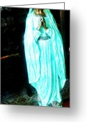 Standing Sculpture Greeting Cards - Virgin Mary Greeting Card by Unique Consignment
