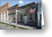 Street Scene Greeting Cards - Virginia City Ghost Town - Montana Greeting Card by Daniel Hagerman