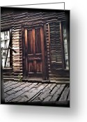 Montana Greeting Cards - Virginia City Ghost Town Door I Greeting Card by Susan Kinney