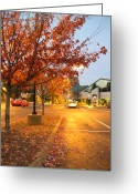 Creative Passages Photo Greeting Cards - Virginia Mariners Museum in Autumn Dusk Greeting Card by Cassandra Donnelly
