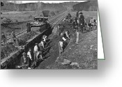 Mathew Greeting Cards - VIRGINIA: RAILROAD, c1861 Greeting Card by Granger