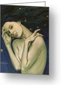 Zodiac Greeting Cards - Virgo  from Zodiac series Greeting Card by Dorina  Costras