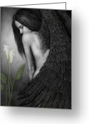 Angel Painting Greeting Cards - Visible Darkness Greeting Card by Pat Erickson