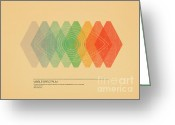 Sight Greeting Cards - Visible Spectrum Greeting Card by Budi Satria Kwan