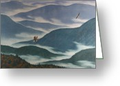 Great Painting Greeting Cards - Vision of the Great Smokies Greeting Card by Glen Heberling