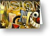 Jack-in-the-box Greeting Cards - Vision Greeting Card by Randy Segura