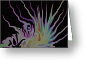 Gina Digital Art Greeting Cards - Visionary Greeting Card by Gina Manley