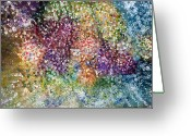 Bletila Striata Greeting Cards - Visionary Painting Greeting Card by Don  Wright