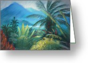 Most Greeting Cards - Visions of Hawaii Greeting Card by Karin  Leonard