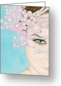 Hyper-realism Painting Greeting Cards - Visions of Sugarplums Greeting Card by Dr B Lynn Tillman