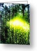 Green. Organic Greeting Cards - Visitation Greeting Card by Skip Hunt
