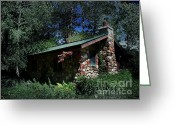 Stone Chimney Greeting Cards - Visiting The Chesterfields Greeting Card by The Stone Age