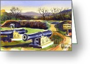 Pilot Knob Greeting Cards - Visitors Welcome at Fort Davidson Greeting Card by Kip DeVore