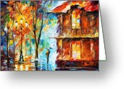 Architecture Painting Greeting Cards - Vitebsk Greeting Card by Leonid Afremov
