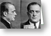 Mug Shot Greeting Cards - Vito Genovese (1897-1969) Greeting Card by Granger