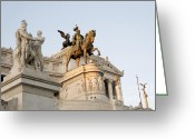 Statues Greeting Cards - Vittoriano. Monument to Victor Emmanuel II. Rome Greeting Card by Bernard Jaubert