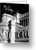 Sculptures For Sale Photo Greeting Cards - Vittorio Emanuele Greeting Card by John Rizzuto