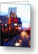 Cityscape Digital Art Greeting Cards - Viva Las Vegas Painting Greeting Card by Stefan Kuhn
