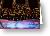 Thelightscene Greeting Cards - Viva Vegas Neon Greeting Card by Bob Christopher